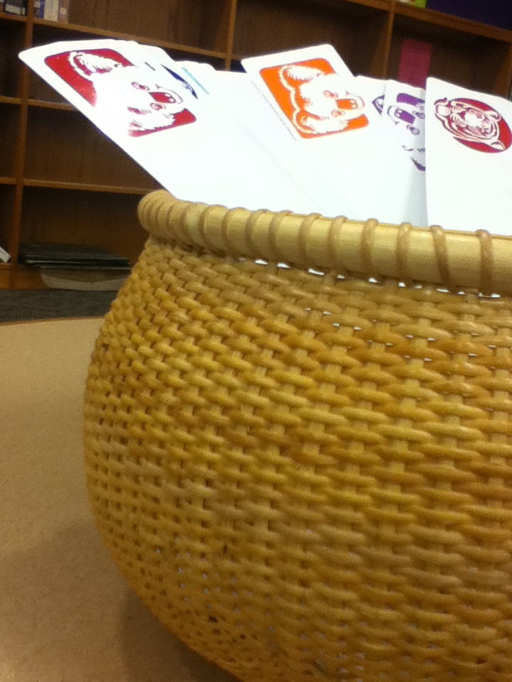 Basket in library