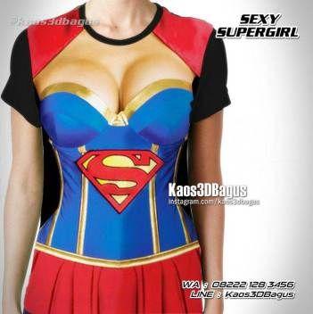 Kaos SUPERGIRL, Kaos Superman, Kaos SUPERHERO CEWEK, Kaos3D, Sexy Supergirl, Kaos Kostum Supergirl, https://instagram.com/kaos3dbagus, WA : 08222 128 3456, LINE : Kaos3DBagus