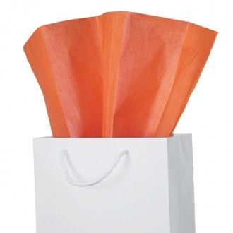 Orange Satin Wrap Tissue Paper