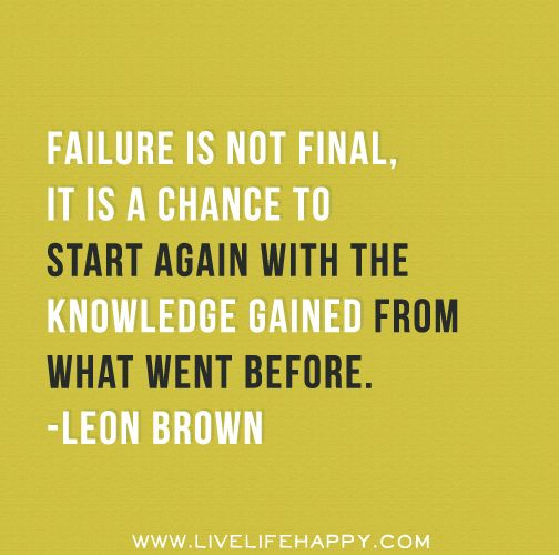 Inspirational Quotes About Failure: 25 Best Images About Hindsight On Pinterest!