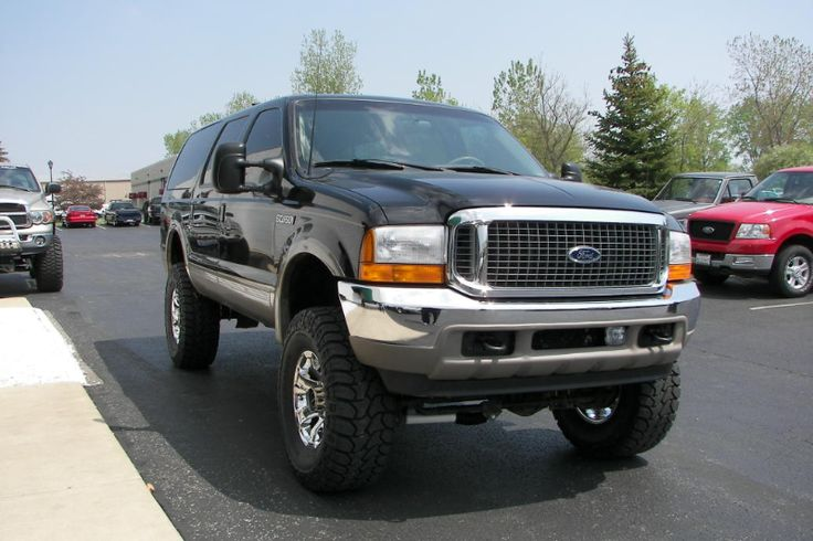 Lifted Ford Trucks >> raised black Ford Excursion SUV | Lifted Ford Trucks | Pinterest | Ford excursion, Ford and Ford ...