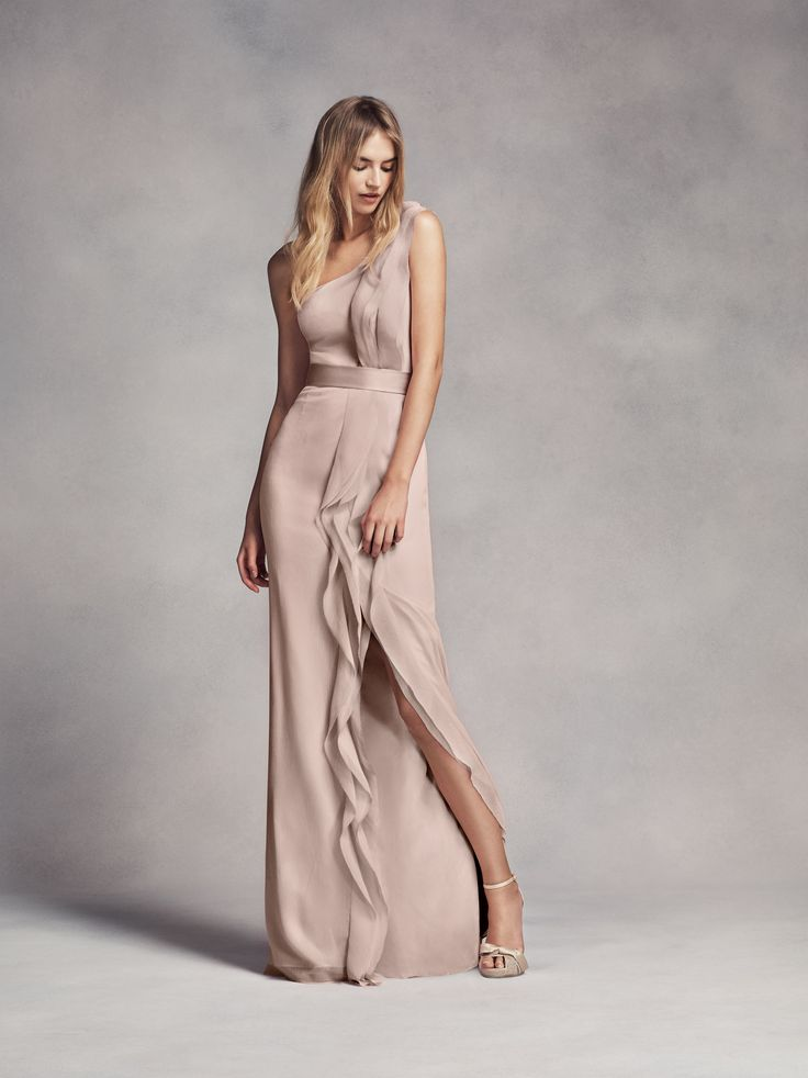 Amazing Ruffled one shoulder bridesmaid dress by WHITE x Vera Wang
