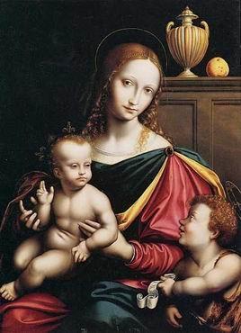 :::: PINTEREST.COM christiancross ::::Madonna e il bambino di Pietro Perugino