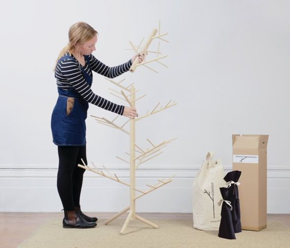 ORDER TODAY using promo code BRANCHEARLY and receive 10% OFF your tree only available until the 15th November!  Branch is an elegant hand crafted Christmas tree made from sustainably sourced Birch. Bringing the feel of the outdoors inside at this festive time of year, it provides a unique contemporary decoration without any mess. Quick to assemble and packaged in a natural cotton duffle bag, this is the perfect festive gift or activity. Dimensions assembled: 5ft tall (156cm) or 3ft tall…