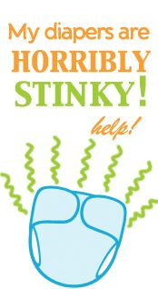 My Diapers are horribly STINKY! What can I do?