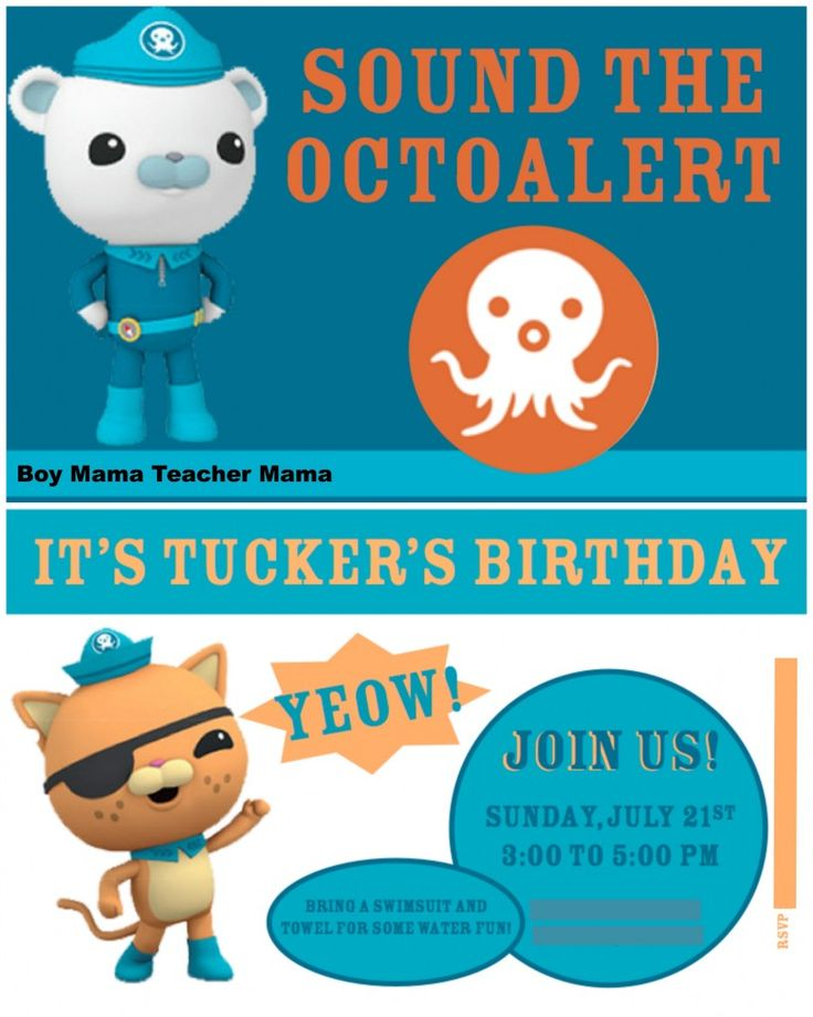 17 Best Images About Niniu0027s Party Ideas On Pinterest Octopus   Microsoft  Birthday Invitation Templates  Microsoft Word Birthday Invitation Templates