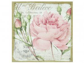 Obrázek s růží 38 x 38 cm