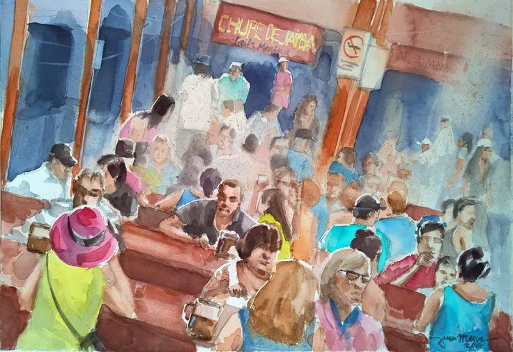 Beer Fest II #Watercolour