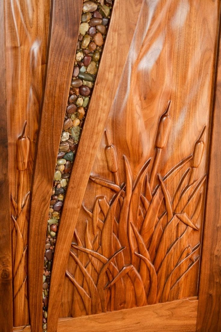 Custom Made Walnut Entry Door