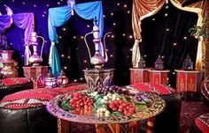 arabian table decor - Buscar con Google
