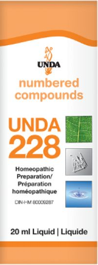 Unda 228  Nervous Disorders due to Stress It is indicated for nervous disorders following shock or grief, and nervous depression accompanied by confusion. Unda 228 profoundly affects the neuro-vegetative system which controls the regulation and reestablishes homeostasis of the different systems.