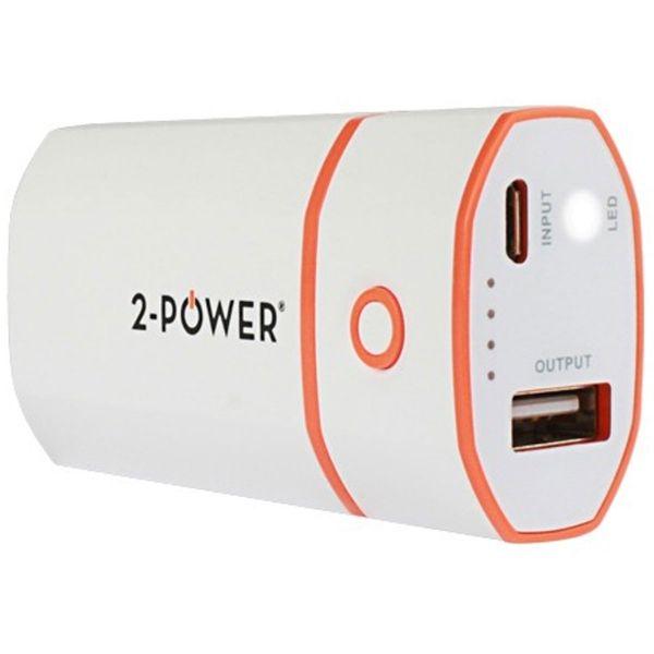 2-Power Basic 5200 mAh - Hvid
