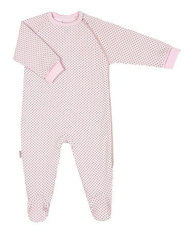 Loving this Pink Polka Dot Zip-up Footie on #zulily! #zulilyfinds