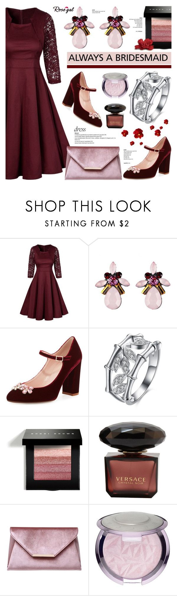"""Rosegal 43"" by anyasdesigns ❤ liked on Polyvore featuring Kate Spade, Bobbi Brown Cosmetics, Carvela and vintage"