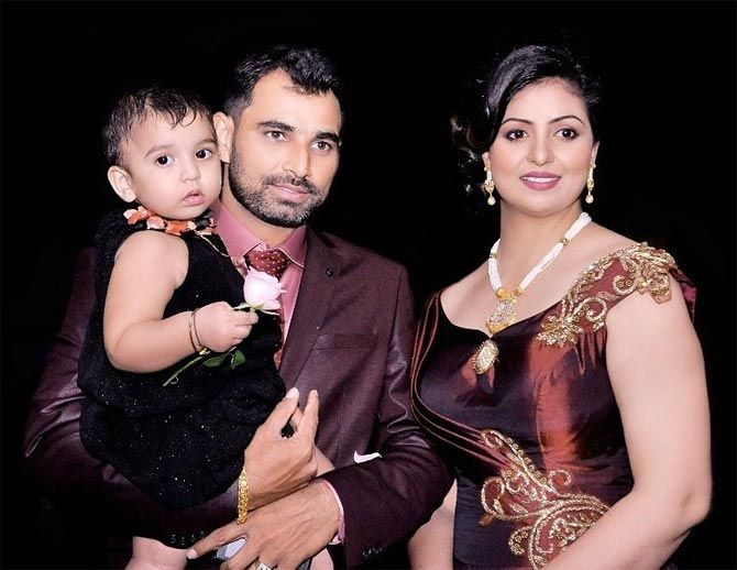 Mohd. Shami with his wife