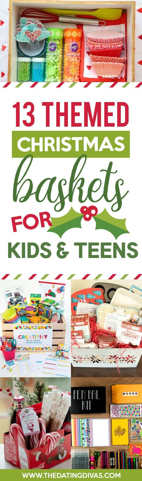 Themed Christmas Gift Baskets for Kids and Teens