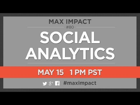 Social Analytics w/ Jen Lopez - Max Impact Ep. 080. For this and other H.O.A.s visit www.hoashows.com
