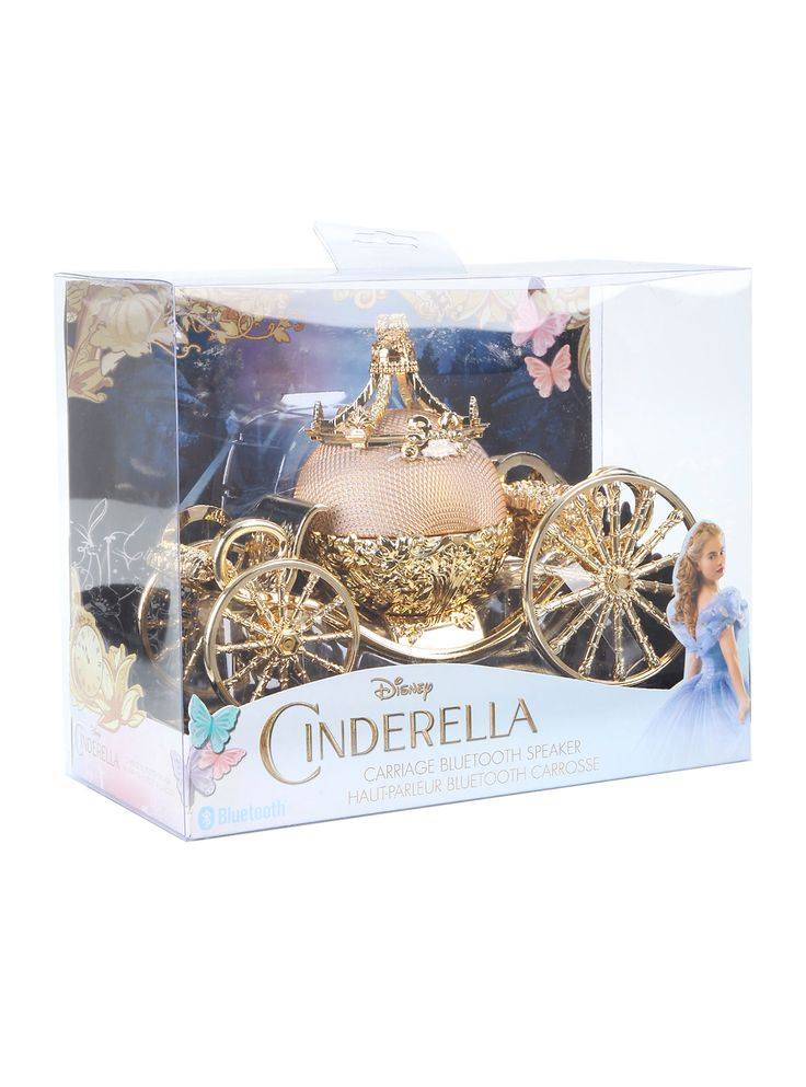 Throw on your best gown and get your crew together; there's a ball happening and you're about to be the talk of the kingdom! This wireless Bluetooth speaker inspired by Disney's Cinderella has beau...