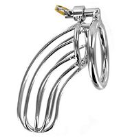 The Bird Cage: A great chastity cage for well-endowed guys (4-6 inches flaccid). Very affordable too.  #chastity