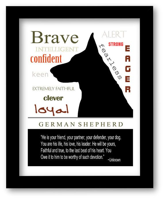 German Shepherd Art, German Shepherd Print, Subway Art, Quote, Modern Wall Decor, Black and White, Pet Lovers Gift