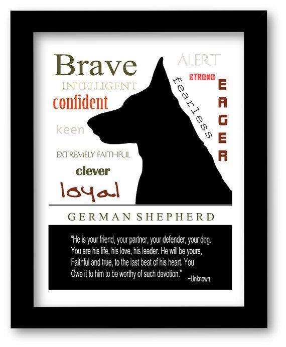 German Shepherd Art, German Shepherd Print, Subway Art, Quote, Modern Wall Decor, Black and White, Pet Lovers Gift