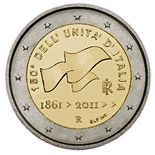 2 euro 150th anniversary of unification of Italy  - 2011 - Series: Commemorative 2 euro coins - Italy