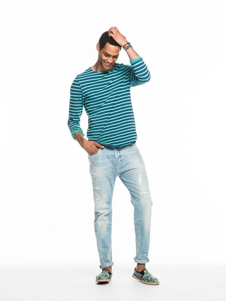 Yarn-dyed T-shirt | T-shirts l/s | Herenkleding bij Scotch & Soda