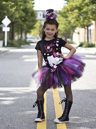 Hello Rockstar Tutu & Top Hat by My Girlz Kreative Inspirations. This little girl really rocked this outfit!