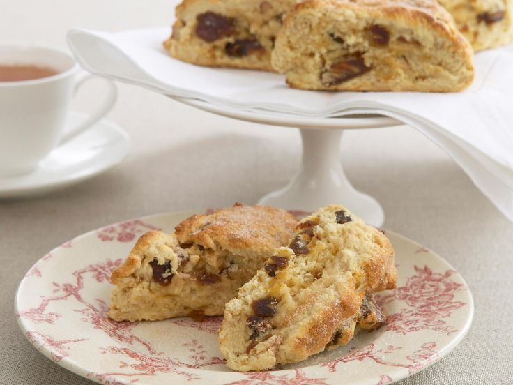 Chopped dates and walnuts give this traditional English teatime treat a contemporary makeover. #recipe_ideas #scones
