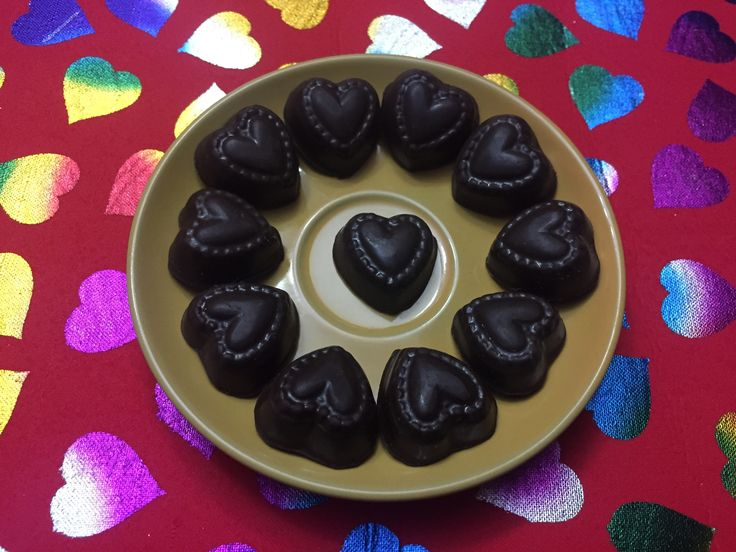 Chocolates de corazón