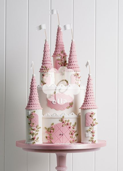 Professional princess castle cake--also white fondant base. :-)