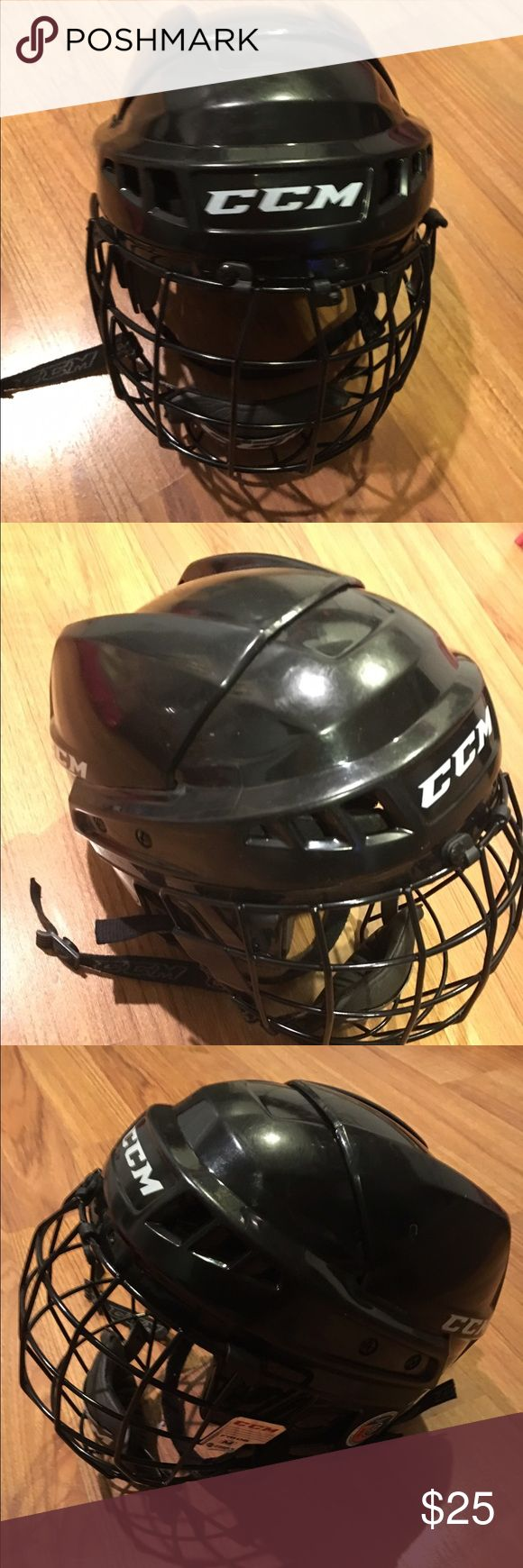 CCM Hockey Helmet Adult Medium Hockey Helmet. Worn once! Cage front, certified until November 2017! CCM Hockey Other