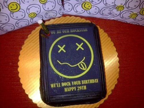 Nirvana Kurtcobain Cake Little Bits Pinterest
