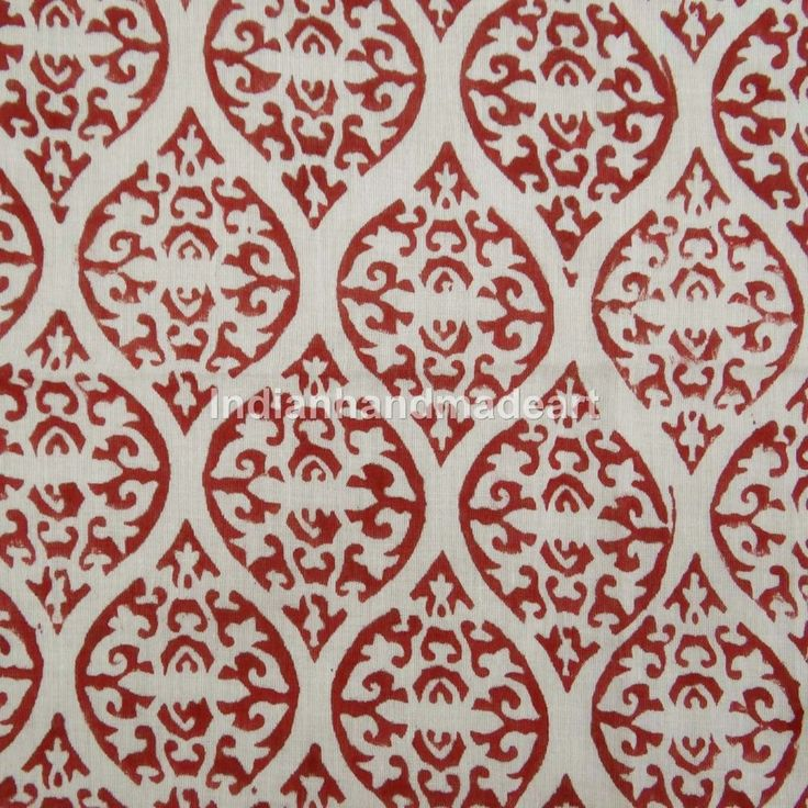 By The Yard Decorative Hand Block Print Sewing Craft Indian Cotton Voile Fabric