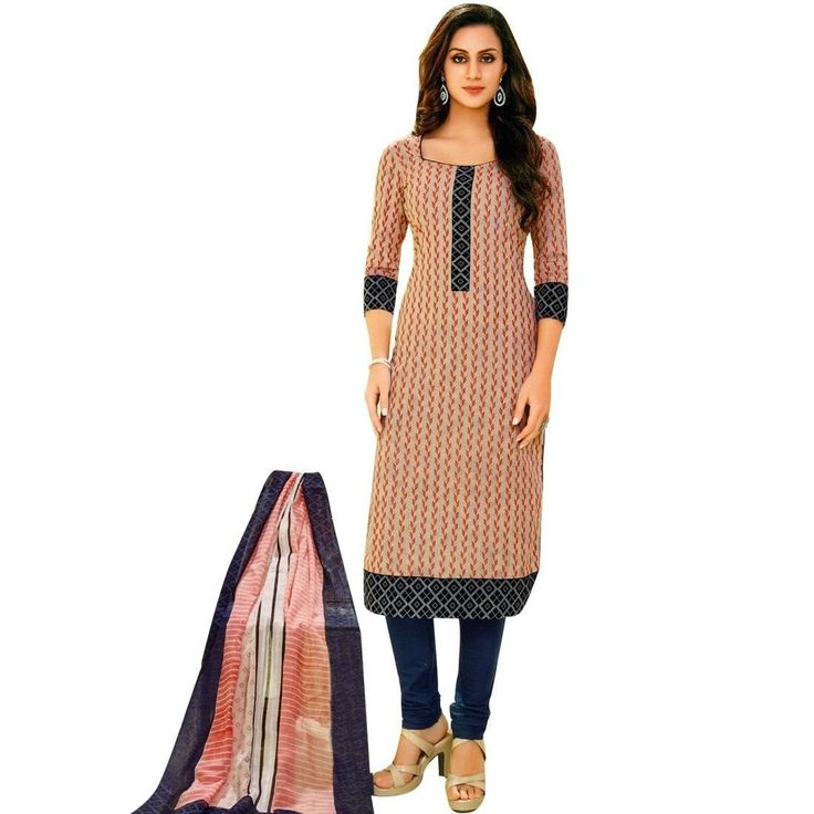 Readymade Designer Ethnic Printed Cotton Salwar Kameez Suit Indian  #Designer #FreeShipping #SalwarSuit #SalwarKameez #NewStuff #ShopNow #LowestPrice #DressMaterial