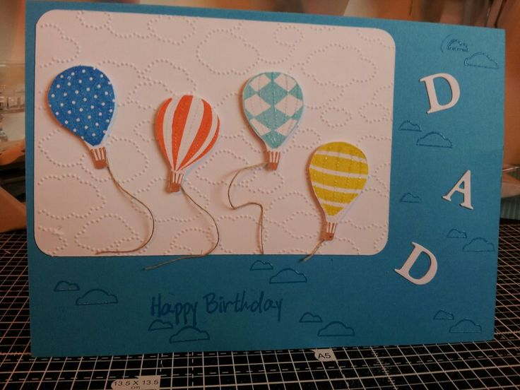 dads birthday card i would use balloons  dad birthday