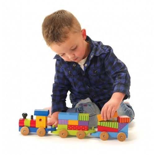 Large Puzzle Train   Wooden Toys for Children   Large Puzzle Train from BrightMinds UK
