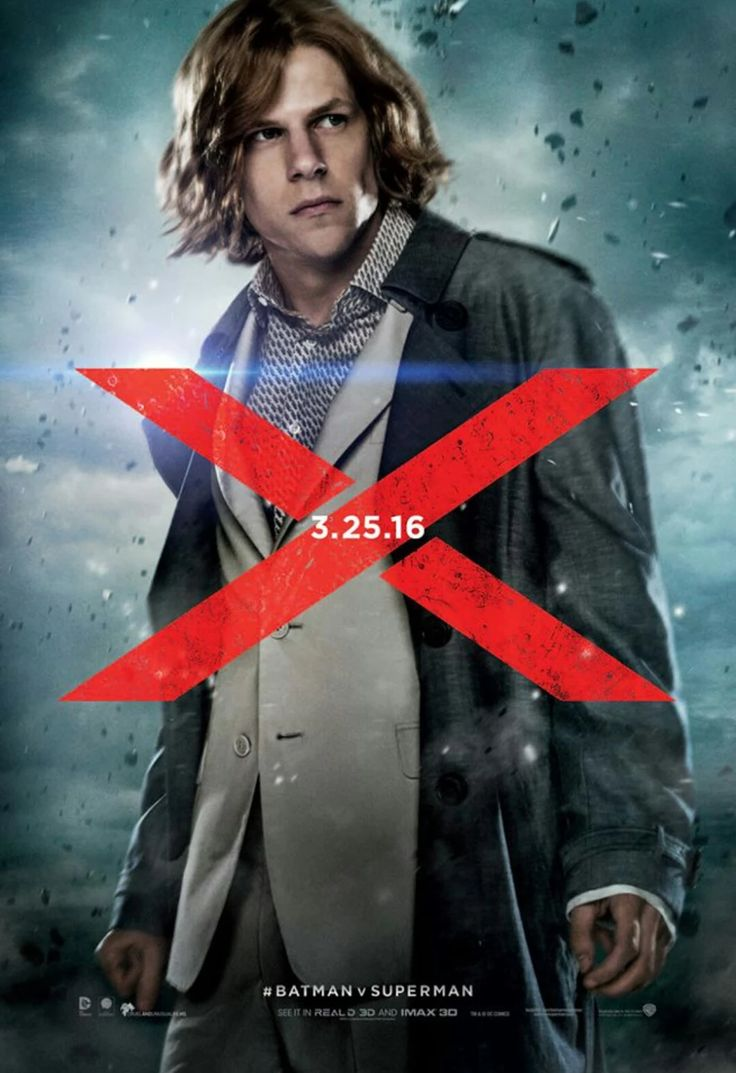 I want to talk about Jesse Eisenberg. Although I thought he was the weakest link of the movie in terms acting and a little bit in character motivation. I appreciate his performance and the direction they went with the character. I feel Jesse fits in better with universe than say the fan favorite pick of Bryan Cranston. I feel Jesse will only get better as he goes.