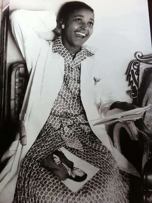 Nelson Mandela's Winnie. This was her upon getting his first letter from jail
