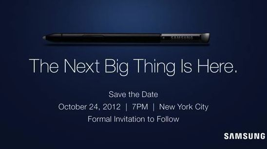 Samsung sets stylus-themed event for Oct. 24 | South Korean company's giving some downtime after Apple's iPhone 5 kickoff to host an event of its own. Buying advice from the leading technology site
