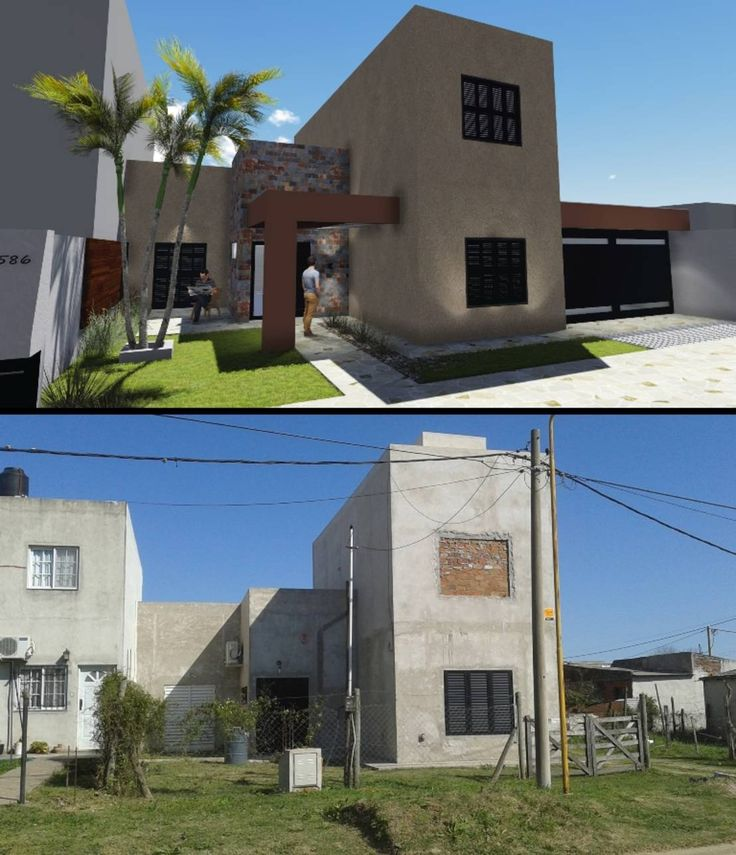 Encontrá las mejores ideas e inspiración para el hogar. REFORMA, FACHADA P|S por Group Arquitectura Online | homify