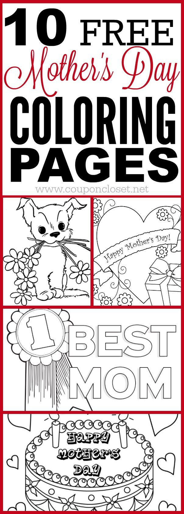 We have a list of free mothers day coloring pages that the kids can color for Mom. These print out coloring pages are perfect to surprise Mom with a homemade gift.