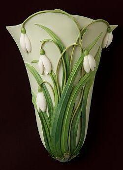 Snowdrops Wall Vase / Wall Pocket. Ibis & Orchid designers. Vicksburg, MS.