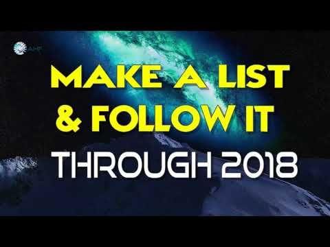 Abraham Hicks New - Make a list & Follow it through 2018