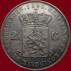 Nederland - 2½ gulden 1840 Willem I - zilver