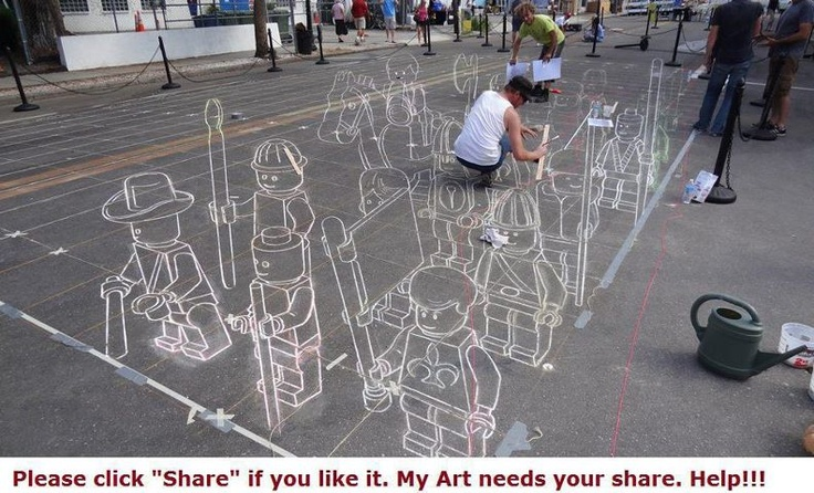 No matter how long I look at this I can't see it flat! Awesome!    http://www.facebook.com/socialmedia.agreene: Amazing, Chalk Drawing, Awesome, Street Art, 3D Art, Lego Street, 3D Street, Chalk Art, Streetart