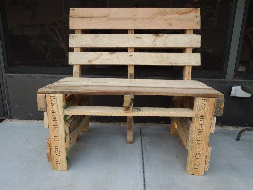 pallet bench: Chair, Craft, Pallet Projects, Wood Projects, Bing Images, Wood Pallet, Pallet Furniture, Recycled Pallet