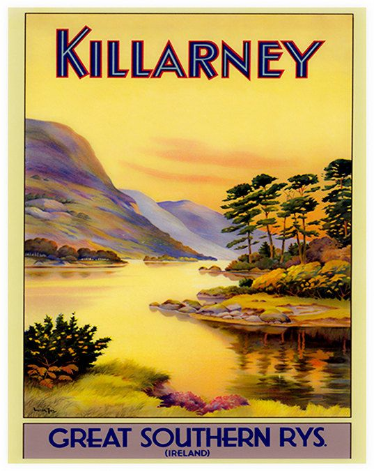 Irish Wall Art Ireland Print Travel Poster Home by Blivingstons