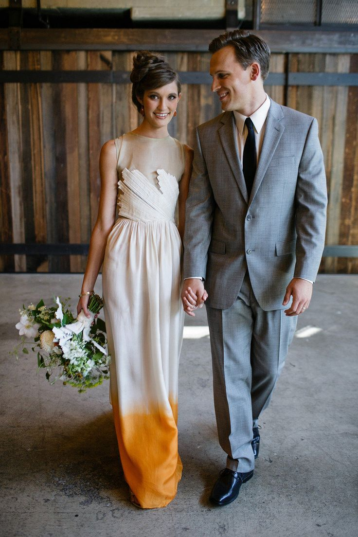 View entire slideshow: 10 Insanely Gorgeous Ombré Wedding Dresses on http://www.stylemepretty.com/collection/1959/