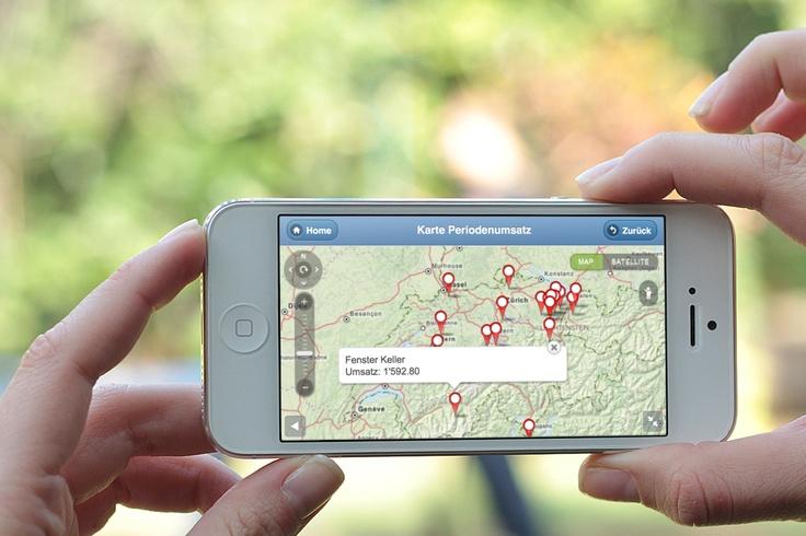 Geo-Report in der SwissSolution von myfactory auch auf dem Smartphone